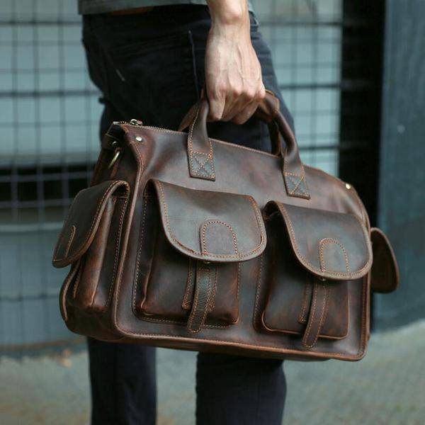 Sale, Horse Leather Messenger Bag, Handmade Briefcase, Men Tote Bag image 5