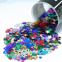 Number 40 and Stars Multicolor Confetti Bag 1/2 Oz Birthday Party CCP9007 - $3.95+