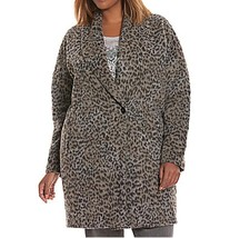 LANE BRYANT Brushed Faux Leopard Light Coat Plus size 26/28 Spring Fall ... - $67.00