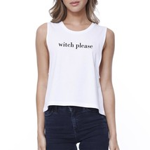Witch Please Womens White Crop Top - $14.99