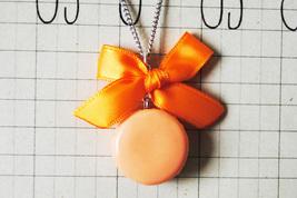 Orange Macaron Necklace - $19.00