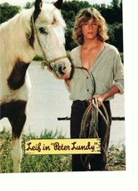 Leif Garrett teen magazine pinup clipping Peter Lundy with a horse Teen Beat - $3.50