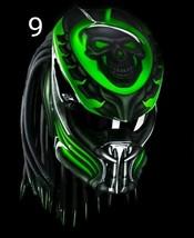 Predator Motorcycle Helmet Green Skull (Dot / Ece Certified) - $355.00