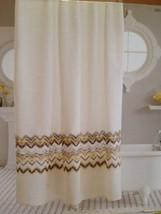 """Threshold Gray and Yellow Chevron Fabric Shower Curtain 72"""" x 72"""" NEW Zi... - $20.25"""