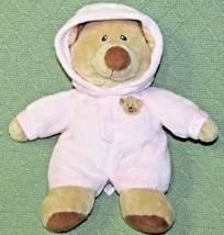 "10"" Ty PLUFFIES BABY PINK BEAR Plush Stuffed Teddy PAJAMAS Animal PJ Tan... - $18.70"