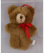 "Schmid Bear Plush Ornament 6"" 1985 Korea Stuffed Animal toy - $5.36"