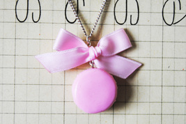 Pink Macaron Necklace - $19.00
