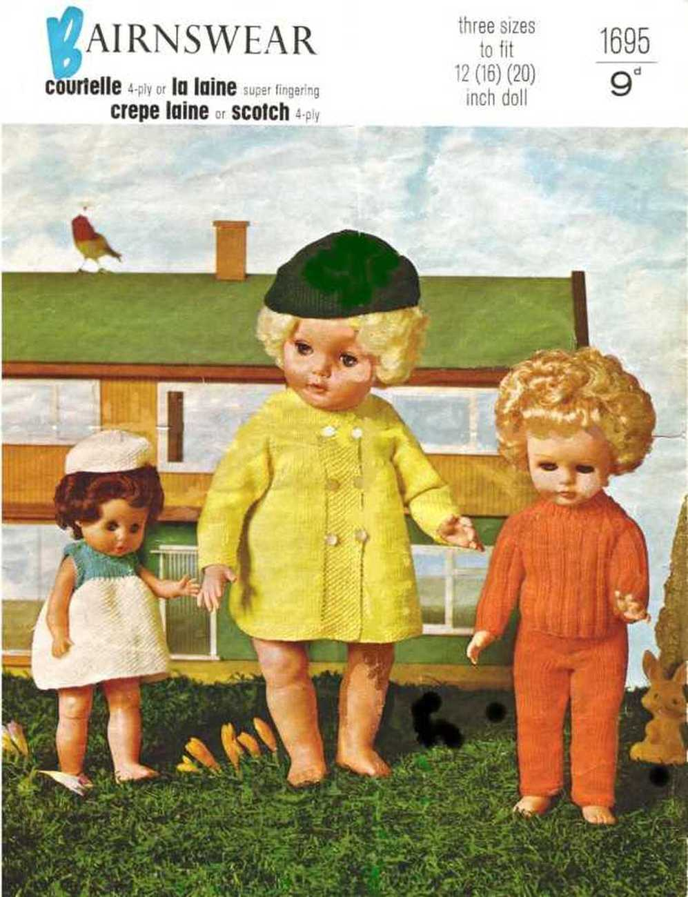 Vintage knitting pattern for Dolls clothes and 48 similar items
