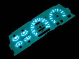MPH 93 94 MAZDA B2300 B3000 B4000 RANGER EXPLORER WHITE FACE GLOW GAUGES - $39.59