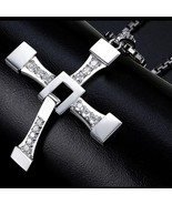 Fast and Furious 8 Cross Necklace Stainless Steel Necklace for Men Domin... - $12.90