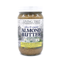 Living Tree Alive  Raw Organic Almond Butter No Sugar Added - Sliced, Never Gro - $32.66