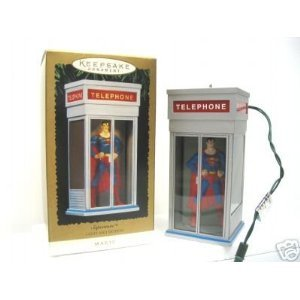 Hallmark Superman Phonebooth Magic Motion Ornament 1995