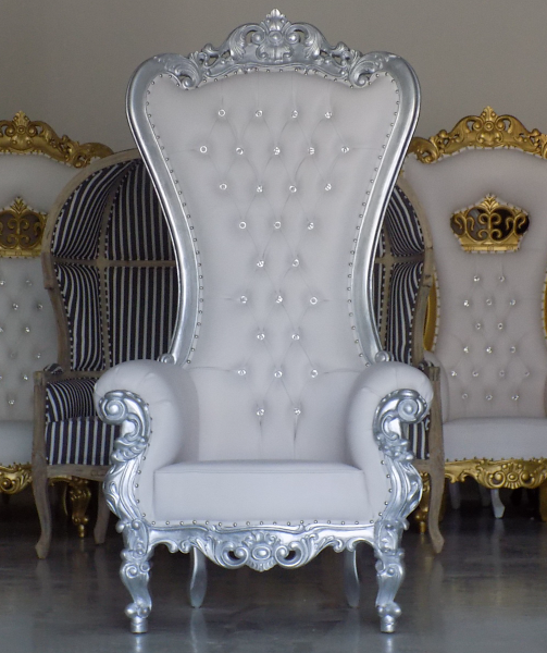 Large Wedding Throne Chair Silver And White We Have A