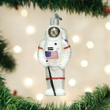 Old World Christmas Astronaut Apollo 11 Moon Landing Glass Xmas Ornament 24182 - $14.88
