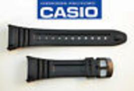 Genuine Casio ILLUMINATOR  Watch Band Black Rubber Strap W-96H-1BV W-96-... - $15.59