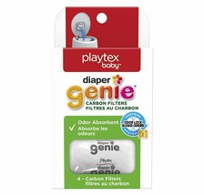 Playtex Diaper Genie Carbon Filters Refill Tray, White, Pack of 4 - $7.56