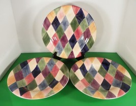 Tabletops Unlimited CARNIVAL Salad or Pasta Plate (s) LOT OF 3 Diamonds - $32.62