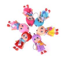 1pcs Women Cute Sleeping Baby Doll Keychain Pompom Rabbit Fur Ball Key C... - $2.99