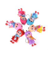 1pcs Women Cute Sleeping Baby Doll Keychain Pompom Rabbit Fur Ball Key C... - $2.99