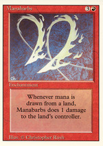 Magic: The Gathering 3rd Edition - Manabarbs - $0.25