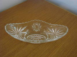 Clear Glass Candy or Relish Dish with Star Design - $14.50