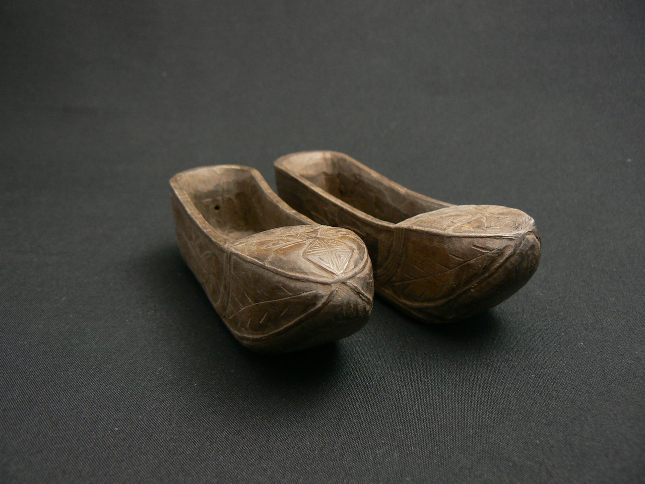 Primary image for Rare Chinese Antique Wood Carving of  Spirit Warding Shoes