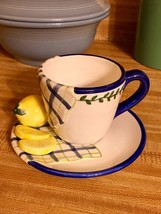 Bella Casa 3D Lemon Cup & Saucer by Ganz NEW WI... - $16.82