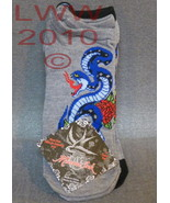 3 Pair Licensed Miami Ink Grey Snake Tattoo Lad... - $6.99