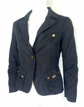 Short woman jacket in black cotton Size M MADE IN iTALY Betty Blue brand... - $51.93