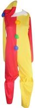 Rubies Clown Jumpsuit Large Costume Adult 2 Piece Multi Colored Jumpsuit w/ Hat - $35.99