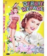 VINTAGE UNCUT 1955/59 DEBBIE REYNOLDS PAPER DOLLS~DOUBLE SET!~14 PAGES~#... - $19.50