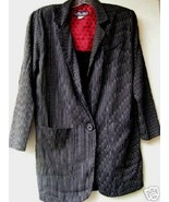 1980'S Black w/Stripe Blazer with Shoulder Pads size Med./Lg.  - $10.00