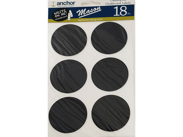 Anchor Hocking Canning Jar Chalkboard Label Stickers, 18 Count #Z11759