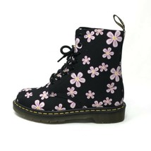 Dr. Martens Womens Size 8 Page Meadows Combat Boots Canvas Floral On Bla... - $121.54