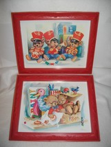 Pr.1985 HOMCO U.S.A. PICTURES~SIGNED HANSEN~TEDDY BEARS - $24.74