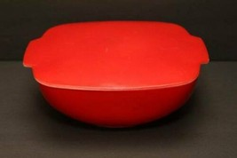 1.5 QT Lid Vintage Corning Pyrex Autumn Red Hostess Oven Table Ware 1953 Rare - $127.66
