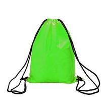 PANDA SUPERSTORE Sports Drawstring Backpacks [Green] Set of 2 Waterproof Backpac