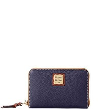 Dooney & Bourke Pebble Medium Zip Around Wallet Midnight