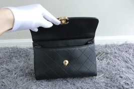 100% AUTH Chanel RARE 2018 Black Quilted Calfskin Flap Bag GHW  image 5