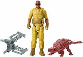 """Jurassic World Mercenary & Ankylosaurus 3.5"""" Action Figure NEW - $20.68"""