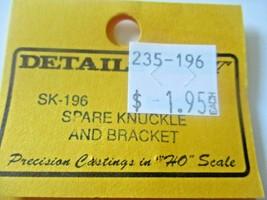 Details West # SK-196 Spare Knuckle and Bracket HO-Scale image 2