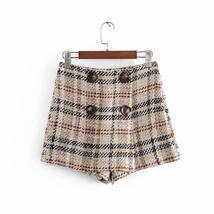 Women's Famous English Designer 2 Piece Solid Khaki Plaid  Blazer Set image 5
