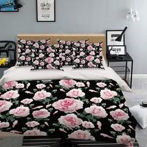 3D Pink Bloom Peony 03 Bed Pillowcases Quilt Duvet Single Queen King US Lemon - $102.84+