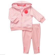 Carter's Baby Girl 2 Pc. Striped Rosette Hooded Cardigan Set. Sz.9 Month... - $15.83