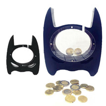 Batman Shaped Money Box Transparent Handmade Wooden Piggy Coin Bank Kids... - $26.17