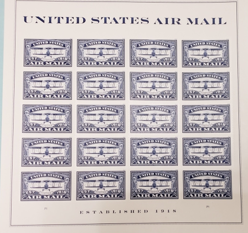 United States AIR MAIL Blue - (USPS)  FOREVER STAMPS 20