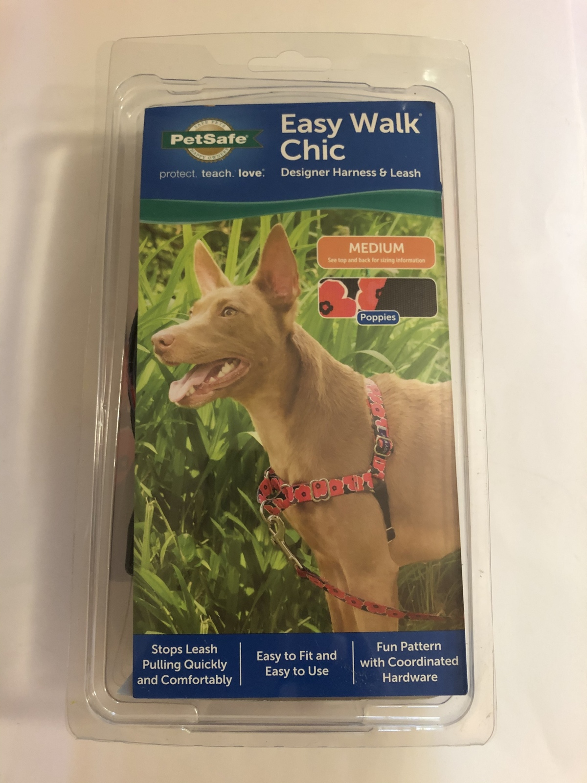 PetSafe Easy Walk Chic Harness Size Medium Poppies Design - $27.95