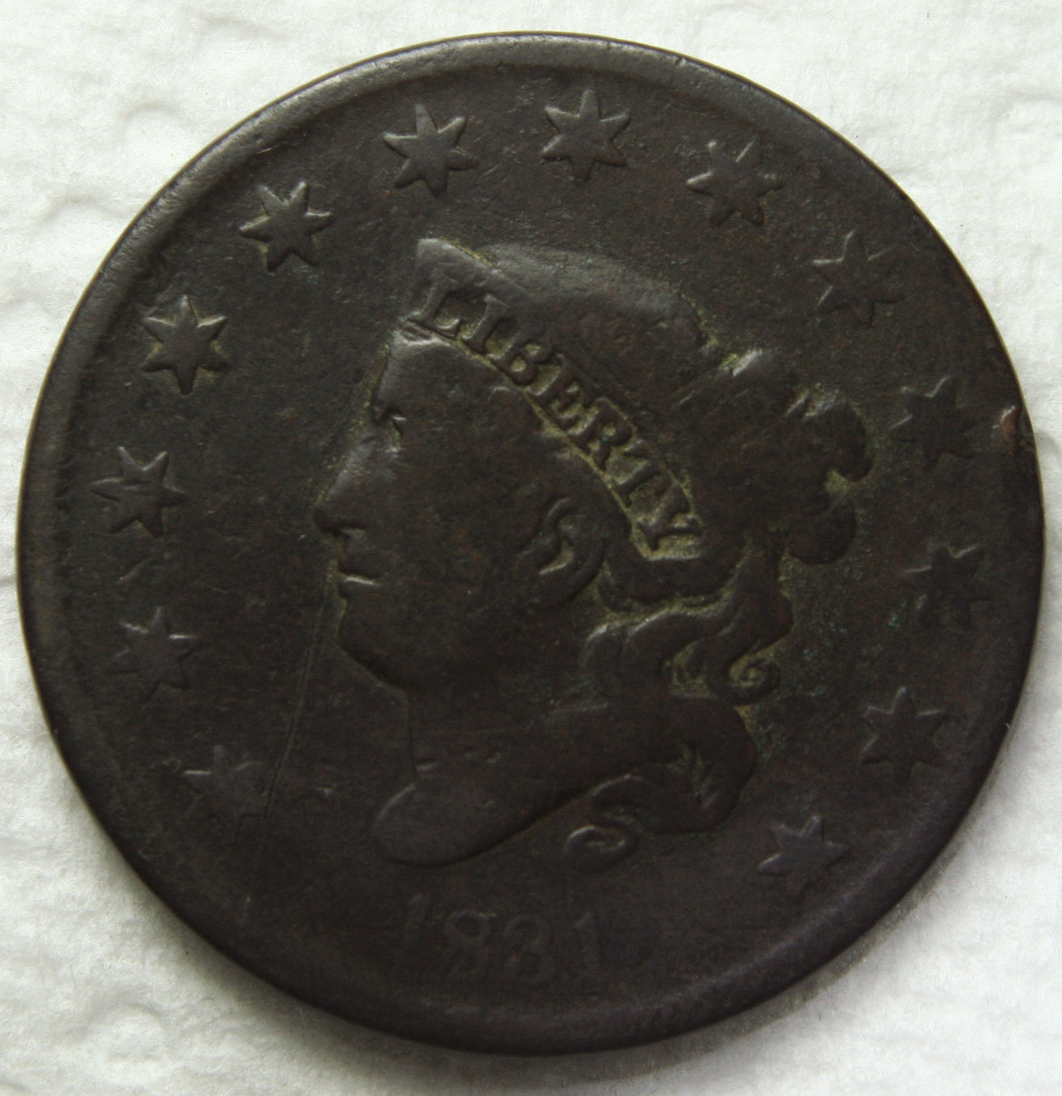 1831 Large Cent Liberty Head Coin Lot # MZ 3399
