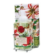 MICHEL DESIGN WORKS Christmas FOAMING SHEA BUTTER HAND SOAP NAPKINS CADDY - $25.94
