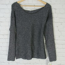 Bar III Shirt Top Womens Medium M Silver Metallic Long Sleeves MRSP $69 - $14.55